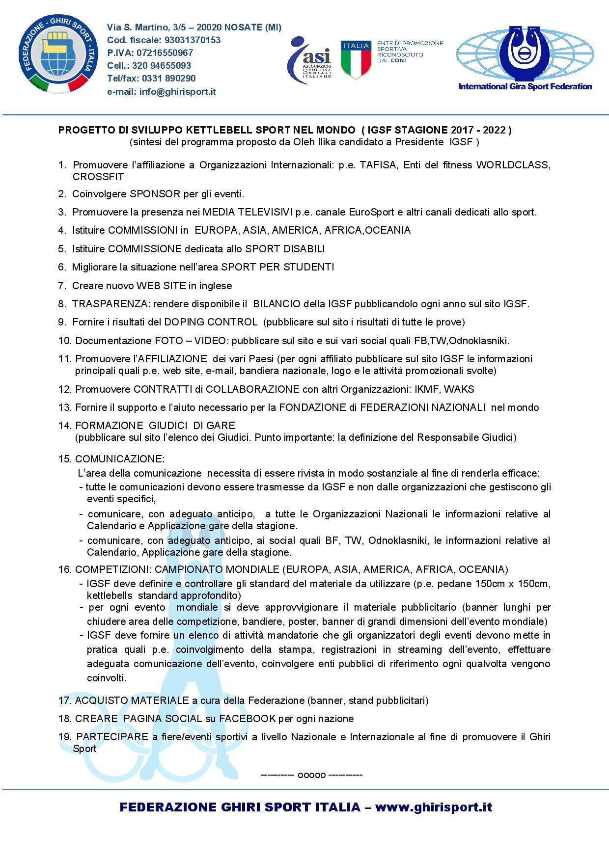 Progetto candidatura IGSF Oleh Ilika_03-08-2017_ITA