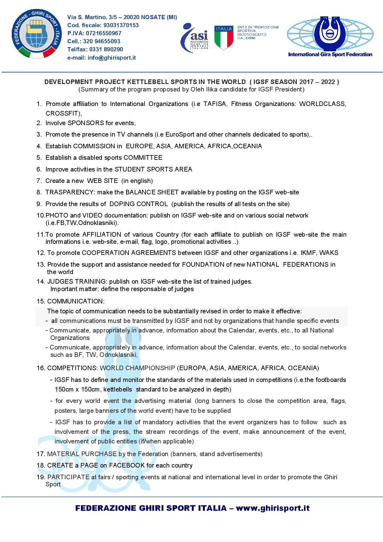 Progetto candidatura IGSF Oleh Ilika_03-08-2017a-ENG
